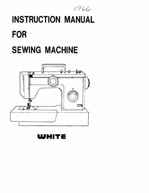 White W40 Sewing Machineembroideryserger Owners Manual eBay Enchanting White Sewing Machine Manual