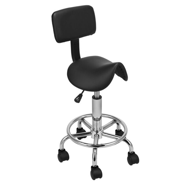 Unbranded Generic Saddle Salon Stool Chair Backrest Tattoo Facial ...