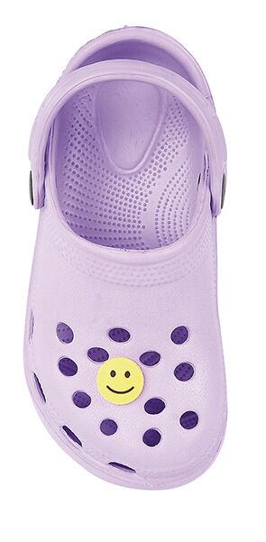 8972e1963d1fc Kids Boys Girls Infants Clogs Unisex Beach Sandal Flip Flop Garden Plastic  Shoes Lilac UK 7 EU 24 US 9