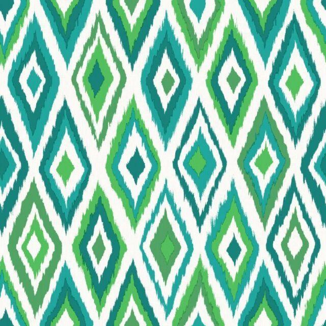 Rasch Wallpaper Cabana 148632 Rhombus Green Fleece Designer