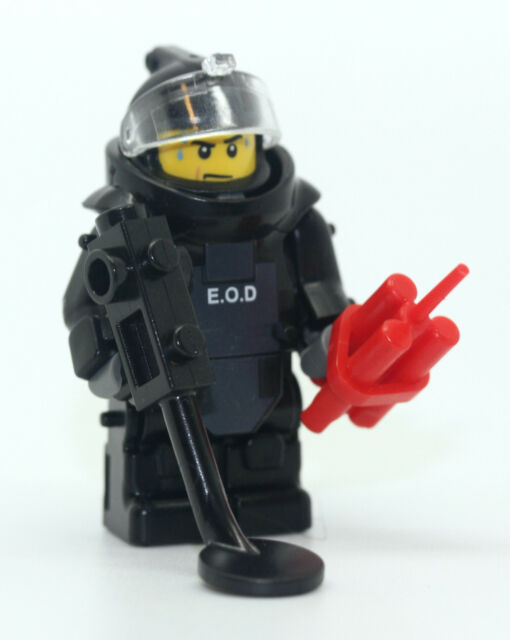 SWAT Bomb Squad EOD Disposal Specialist Minifigure Made With Real ...