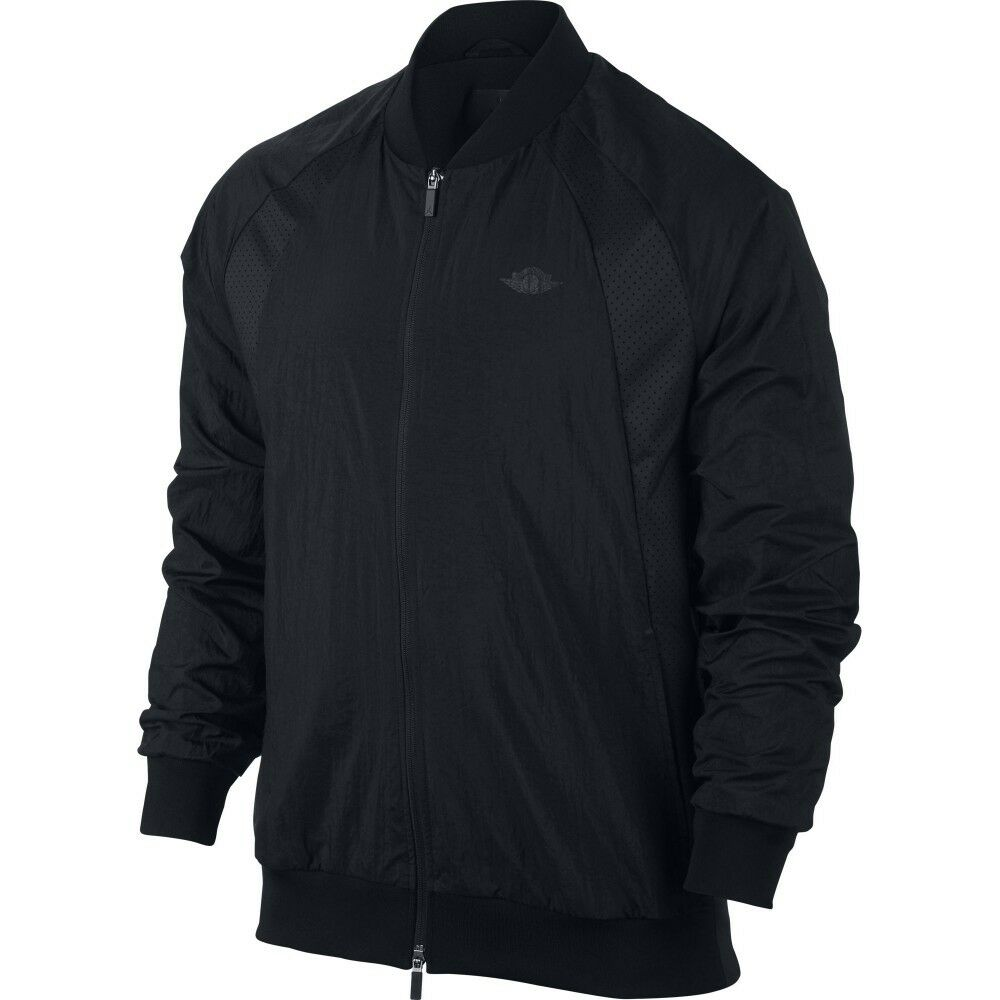 3831d86ff41bf Nike Air Jordan Wings Men's Woven Black Jacket 100 Authentic With Tags  Medium
