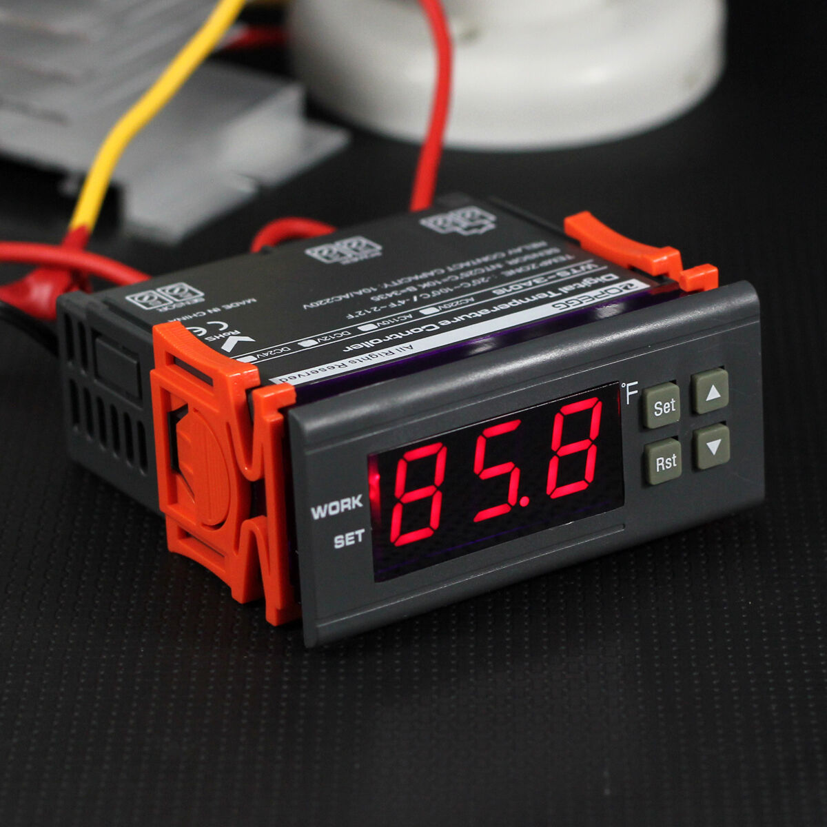 Temperature Relay Ebay Circuit With Led 10a 110v Digital Controller Temp Sensor Thermostat Control Us