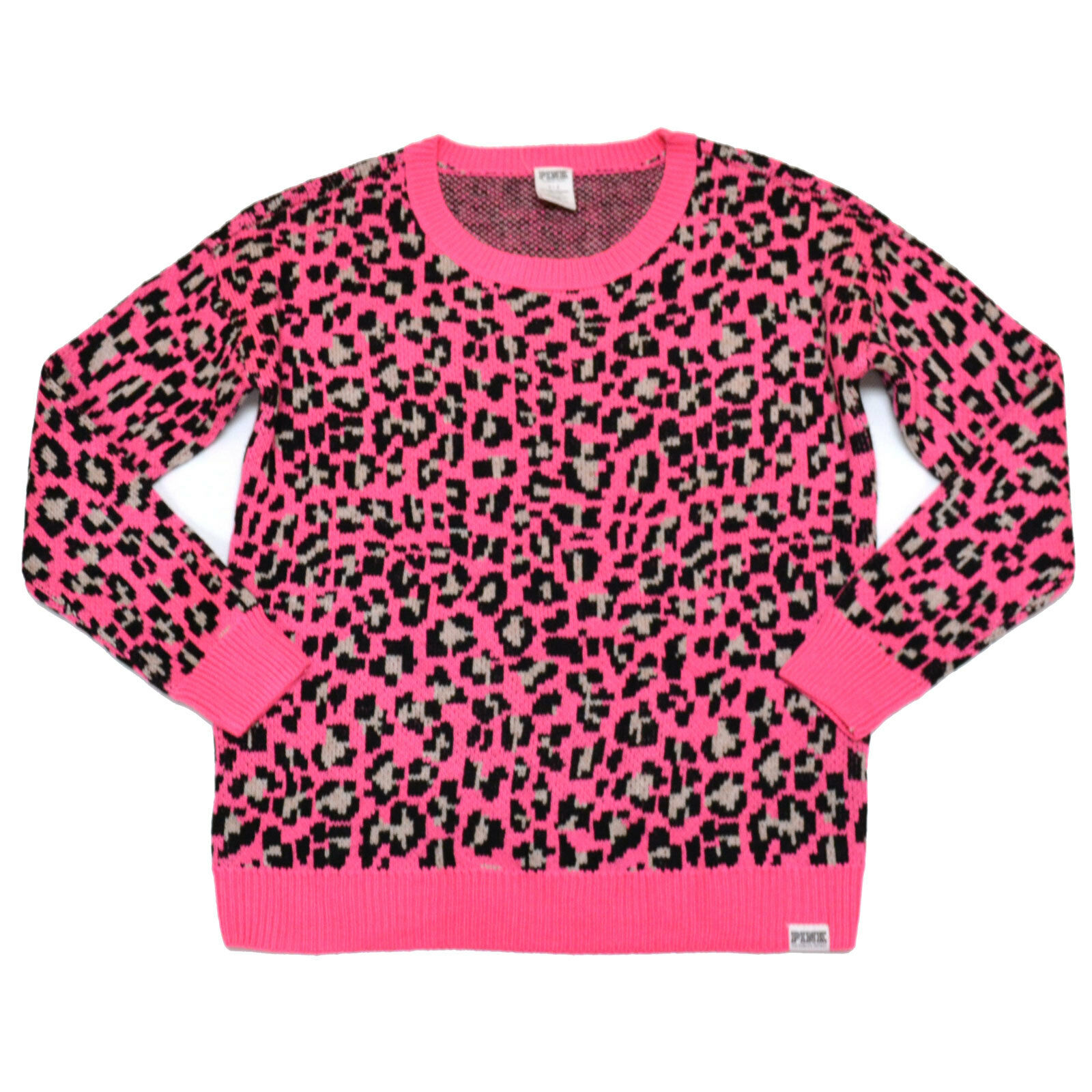 Victoria's Secret Love Pink Leopard Cheetah Sweater Hoodie ...