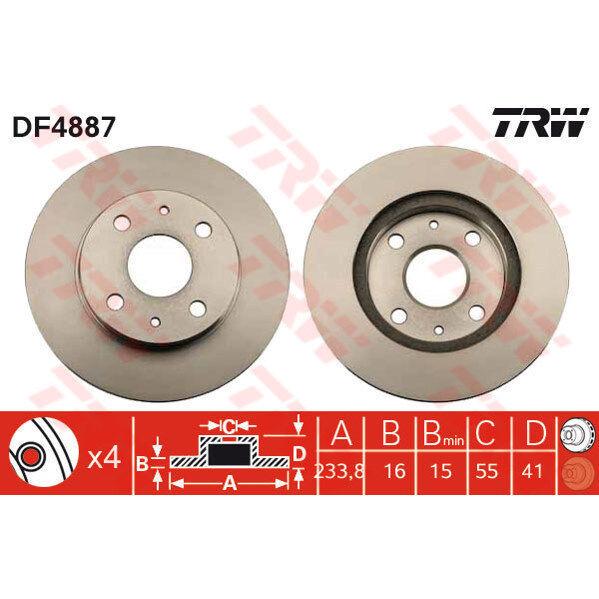Bremsscheibe, 1 Stück TRW DF4887