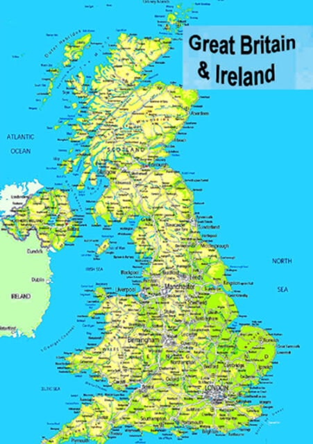 Map of Britain Poster eBay