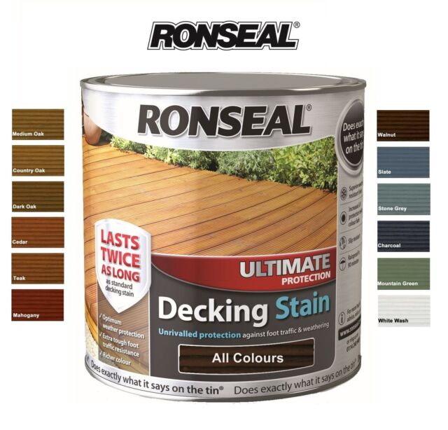 Ronseal Ultimate Protection Decking Stain 2.5 Litre - ALL COLOURS AVAILABLE 2.5L
