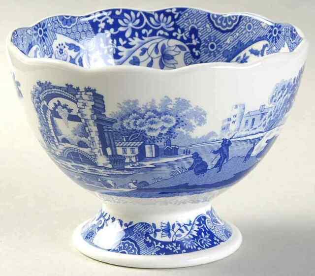 Spode BLUE ITALIAN Footed Bowl 9560826  sc 1 st  eBay & Spode Blue Italian Footed Bowl 9560826 | eBay