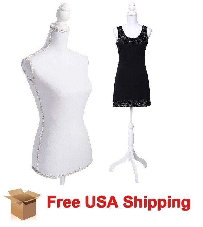 Female Adjustable Mannequin Dress Form Sewing Torso Display Tripod ...