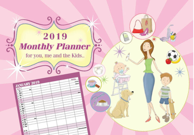 Monthly Family Calendar Appointment Planner  One Month To View