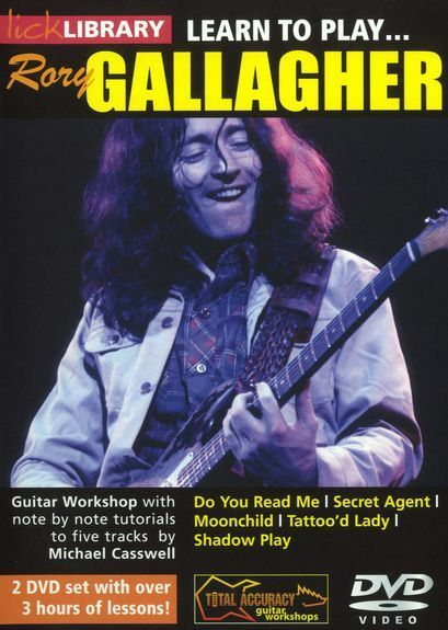 LICK LIBRARY Learn to Play RORY GALLAGHER Do You Read Me Secret Agent GUITAR DVD