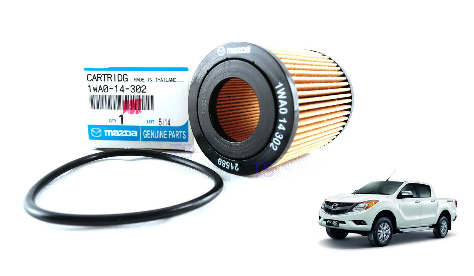 oil filter inc o ring 2.2l 3.2l cartridg for mazda bt 50