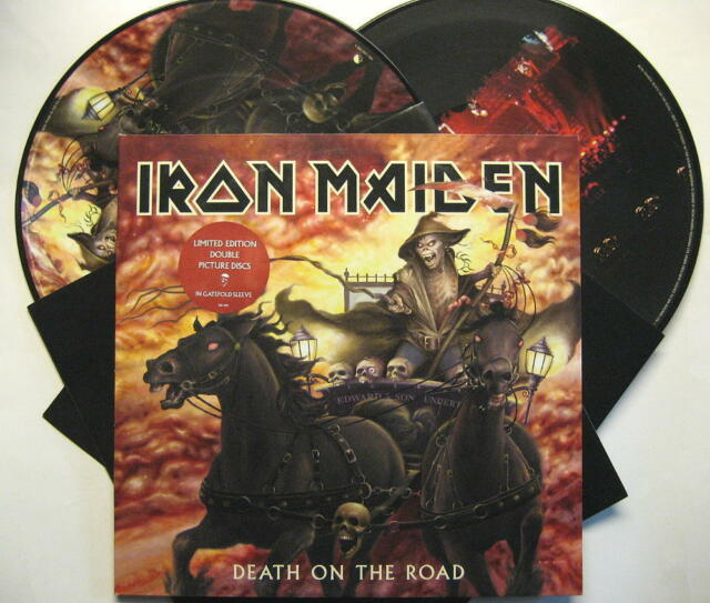 """IRON MAIDEN """"DEATH ON THE ROAD"""" - 2 LP PICTURE DISC - FOC"""