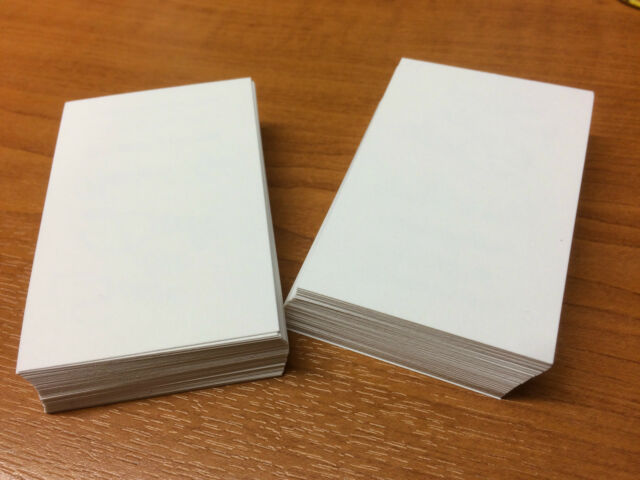 white business card blanks 250gsm x 100 print your own business cards
