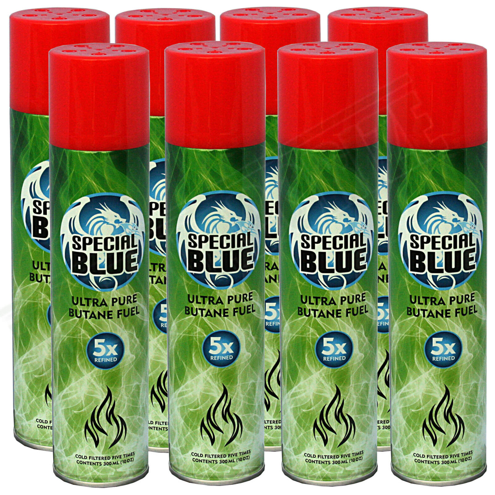 8x Special Blue 5x Refined Butane Gas Extra Purified Fuel Torch ... for Torch Lighter Refill  303mzq