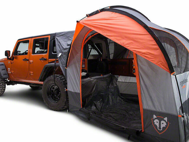 RIGHTLINE GEAR SUV Jeep Minivan 4 Person Tent W/ Waterproof Cap u0026 Screens 110907  sc 1 st  eBay & Rightline Gear 4 Person SUV Tent Camping Camper Above Ground Pick ...