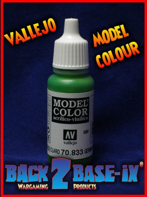 Vallejo Model Color Acrylic Paint 17ml Bottle German Cam Bright Green 70833