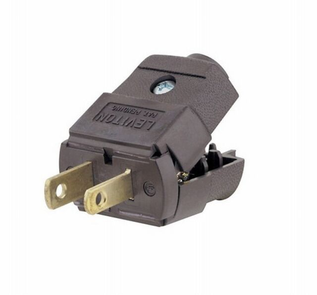 Leviton 015-101p Brown Residential Grade Straight Blade Polarized ...