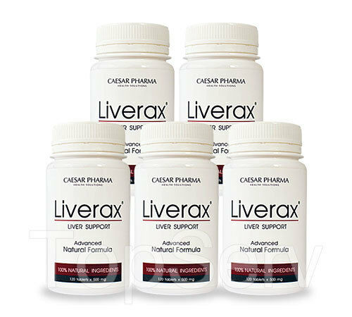 5 Liverax LIVER UNIQUE FORMULA for Healthy Liver Function ANTI-Cholesterol BEST