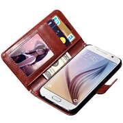 Leather Vintage Wallet Luxury Flip Frame Stand Ca...