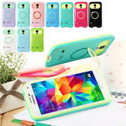 Glowing Hybrid back case cover with stand for App...