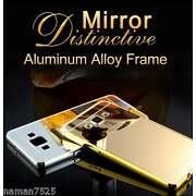 Aluminium Metal Bumper + Mirror Acrylic Back Case...