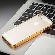 For Apple iPhone5/5s/5c Electro Metallic Gold Bor...