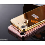 LUXURY METAL FRAME BUMPER + PC MIRROR BACK COVER ...