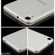 Transparent Soft Silicone Back Case Cover For HTC...