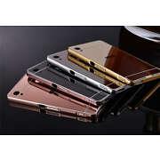 For Sony Xperia M4 Aqua Aluminum Metal Frame+Mirr...