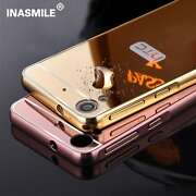*LUXURY MIRROR ALUMINIUM METAL*Bumper Back Cover ...