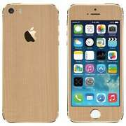 apple iPhone 5s & iPhone SE wooden mapple back sk...