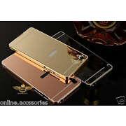 Luxury Aluminum Metal Frame Bumper+ Mirror Back C...
